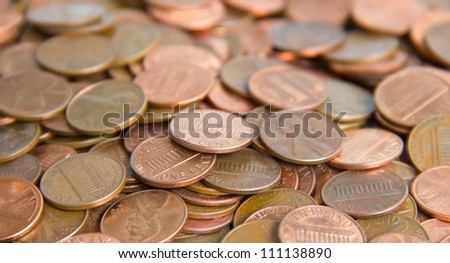 Background made of US cents