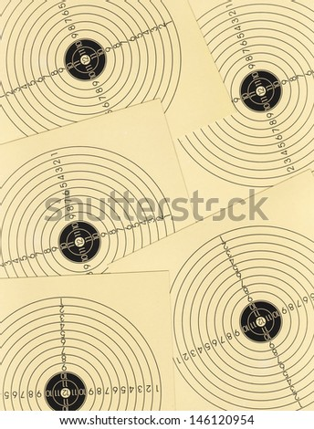 Background made of yellow shooting targets - stock photo