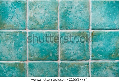 background made with turquoise tiles - stock photo