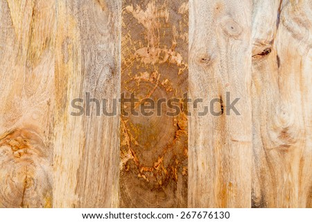 background - mango tree wood - 5 different patterns  - stock photo