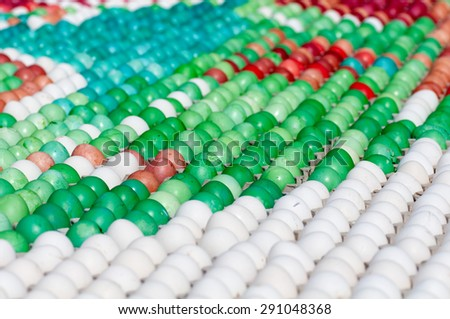 background many colored eggs closeup - stock photo