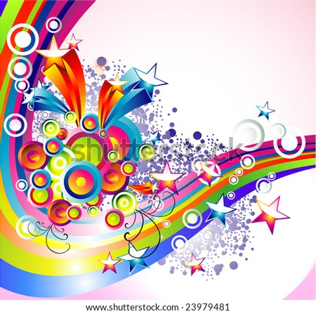 Background Mix of abstract colorful elements