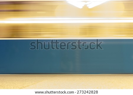 Background Motion Blur in blue color - stock photo