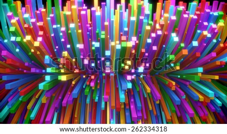 background: multicolored rectangles - stock photo