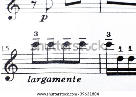 Background music.Note pad.abstract - stock photo