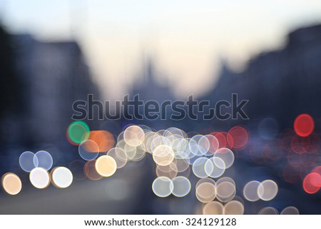 background night city motion lights
