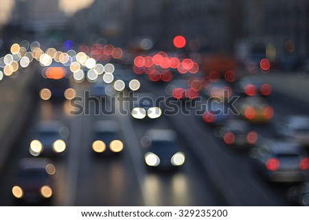 background night city motion lights - stock photo