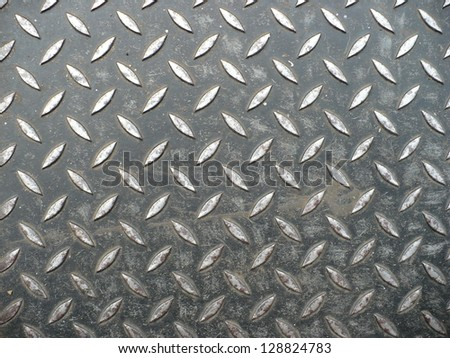 Background non-seamless image of diamond steel plate