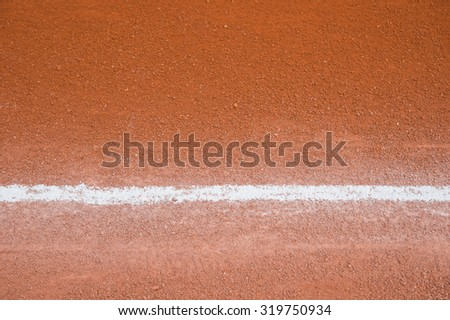 background of a baseball field with a line - stock photo