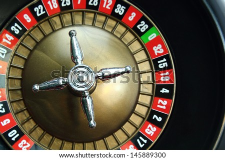 Background of a casino roulette wheel - stock photo