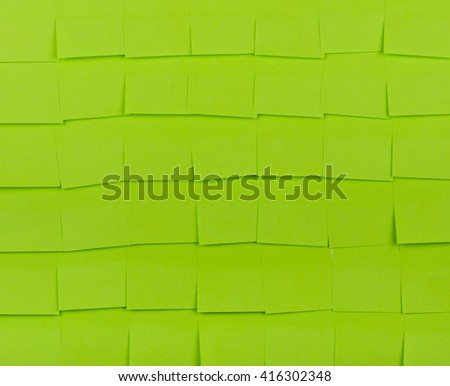 Background of a green sticky notes