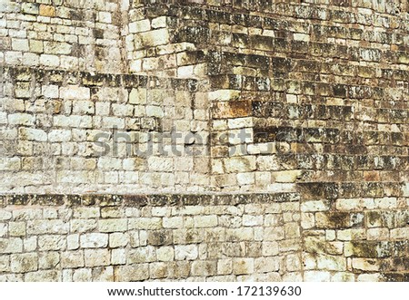 Background of a Mayan Temple Stairs  - stock photo