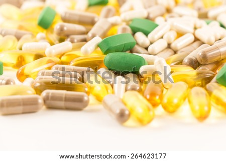 Background of a medical colored pills.
