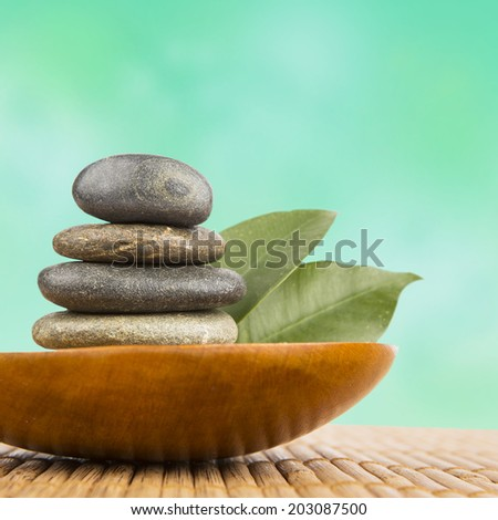 background of a spa with stones - stock photo