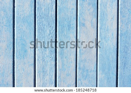 background of aged and blue painted wood