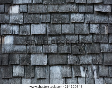 Background of aged wooden shingles