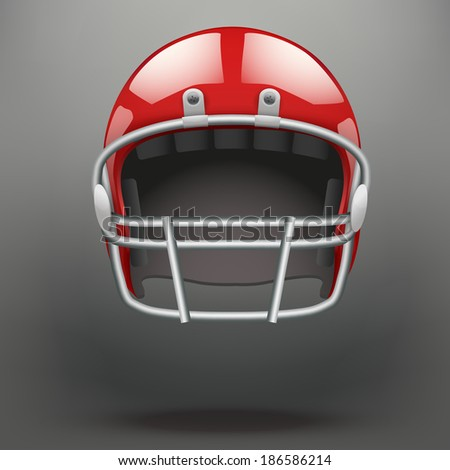 Background of  American football game. Helmet and space for text.