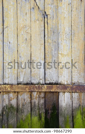 background of ancient retro vintage wooden plank rural building door. - stock photo