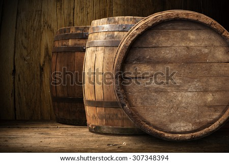 background of barrel  - stock photo
