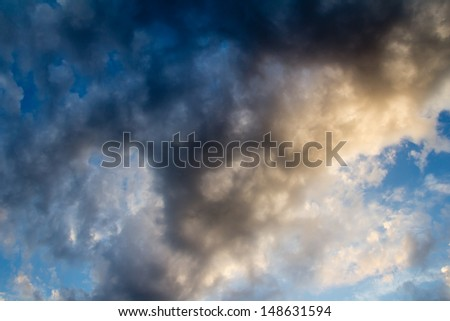 background of beautiful clouds at sunset