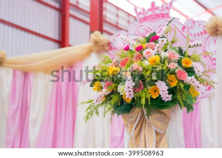 Background of Beautiful flower wedding bouquet decorate