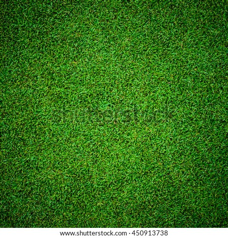 background of beautiful green grass pattern from golf course - stock photo