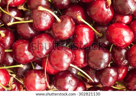 Background of berry cherry