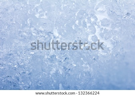 Background of blue ice - stock photo