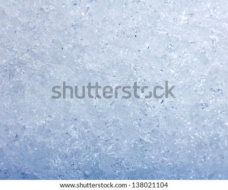 Background of blue ice - stock photo