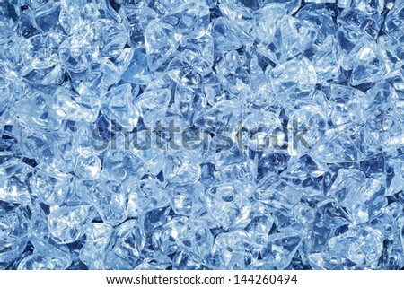 Background of blue ice cubes  - stock photo