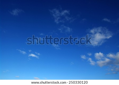 background of blue sky and white clouds - stock photo