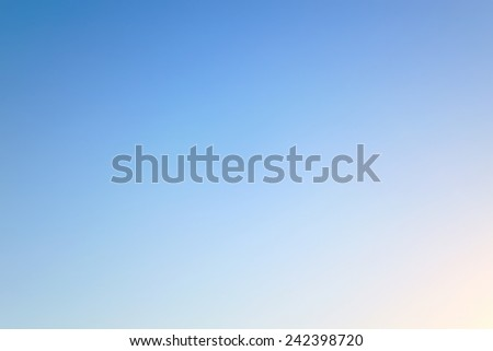 background of blue sky with flares - stock photo