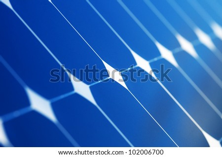 Background of Blue Solar Panel