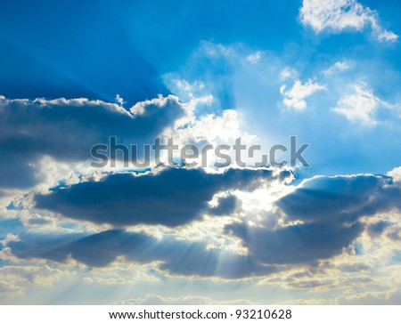 Background of Blue Texture of Heaven Grand Skyscape - stock photo