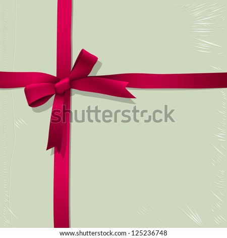Background of box for candy with tied pink ribbon.Raster version - stock photo
