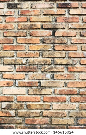 Background of brick wall texture Stock Photo:
