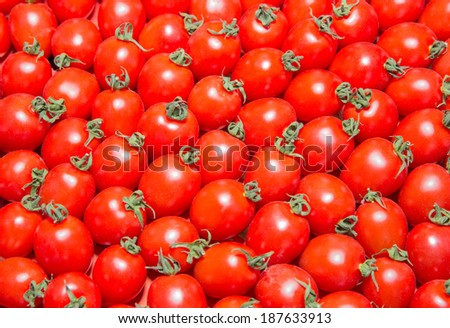 Background of bright red tomatoes