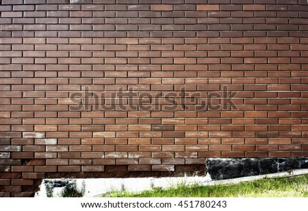 Background of brown brick wall