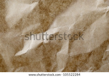 background of brown recycled paper - stock photo