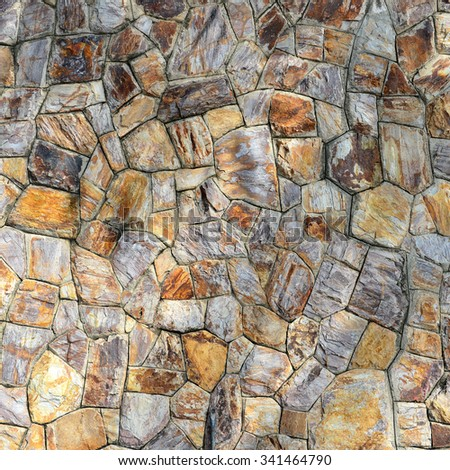 Background of brown stone wall texture photo
