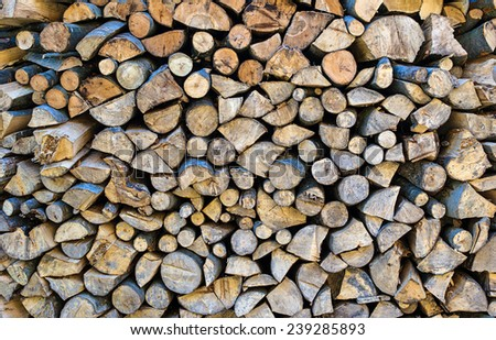 Background of bunch of felled tree