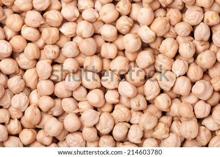 background of chick peas  - stock photo