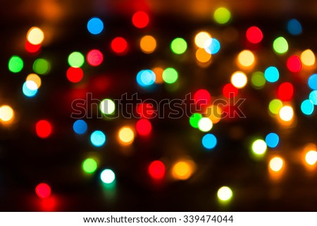 Background of Christmas bokeh lights