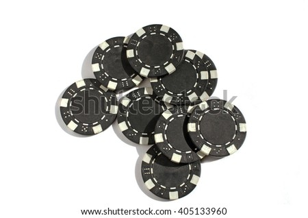 Background of Close up of isolated black poker chips   - stock photo