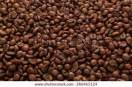 background of coffee - stock photo