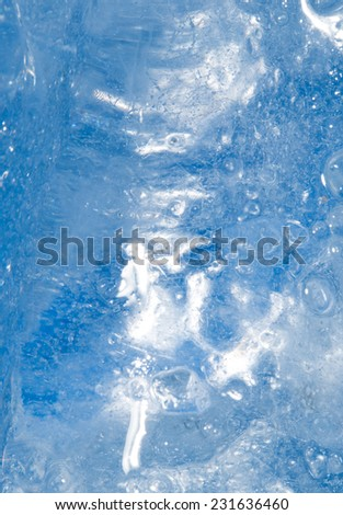 background of cold blue ice - stock photo