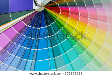 background of color paper chart - stock photo