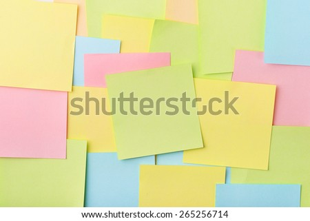 Background of color post-it notes - stock photo