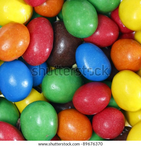 Background of colored candy