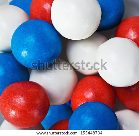 background of colored chewing gum - stock photo